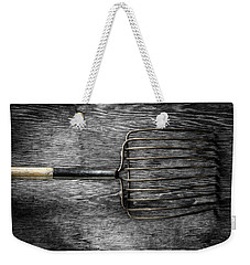 Weekender Tote Bag featuring the photograph Tools On Wood 25 On Bw by YoPedro