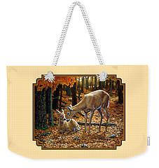 Whitetail Deer - Autumn Innocence 2 Weekender Tote Bag