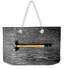 Weekender Tote Bag featuring the photograph Tools On Wood 51 On Bw by YoPedro