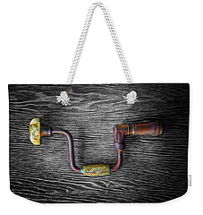 Weekender Tote Bag featuring the photograph Tools On Wood 61 On Bw by YoPedro