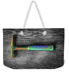 Weekender Tote Bag featuring the photograph Tools On Wood 63 On Bw by YoPedro