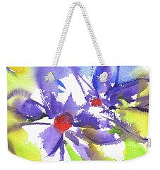 Colorful Flower Weekender Tote Bag by Kathleen McElwaine