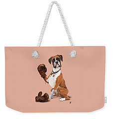 The Boxer Colour Weekender Tote Bag by Rob Snow
