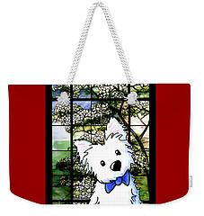 Westie At Dogwood Window Weekender Tote Bag