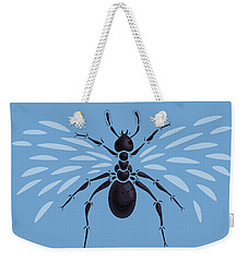Abstract Winged Ant Weekender Tote Bag by Boriana Giormova