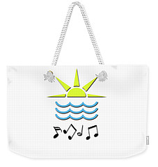Sun, Sea And Music Weekender Tote Bag by Linda Prewer