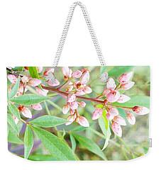 Pale Powder Pink Plant Weekender Tote Bag