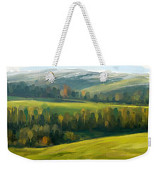 Weekender Tote Bag featuring the painting Rich Landscape by Ivana Westin