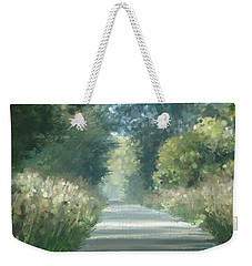 Weekender Tote Bag featuring the pastel The Road Back Home by Ivana Westin