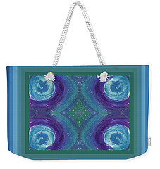 Universal Love Green Diamond Quad Weekender Tote Bag