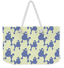 Weekender Tote Bag featuring the mixed media French Poodle Plaid by Christina Rollo