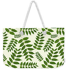 Weekender Tote Bag featuring the mixed media Botanical Pattern by Christina Rollo