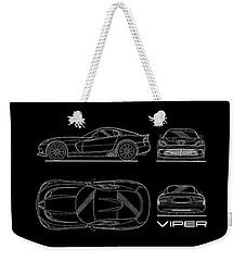 Viper Blueprint Weekender Tote Bag by Mark Rogan