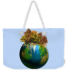 Weekender Tote Bag featuring the painting There Is Only One by Ivana Westin