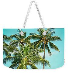 Weekender Tote Bag featuring the photograph Coconut Palm Trees Sugar Beach Kihei Maui Hawaii by Sharon Mau