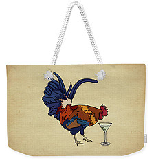 Weekender Tote Bag featuring the mixed media Cocktails by Meg Shearer