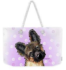 Kiniart Shepherd Puppy Weekender Tote Bag