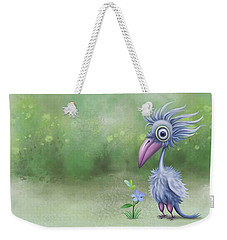 Weekender Tote Bag featuring the painting Beauty Is Subjective by Ivana Westin