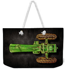 Weekender Tote Bag featuring the photograph John Deere Top On Black by YoPedro