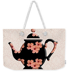 Hibiscus Pattern Teapot Weekender Tote Bag