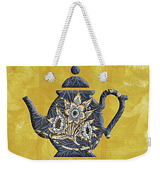 Tulips And Willow Pattern Teapot Weekender Tote Bag