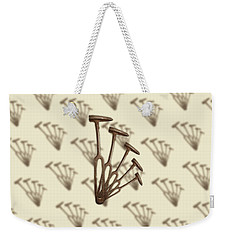 Weekender Tote Bag featuring the photograph Rustic Hammer Pattern by YoPedro