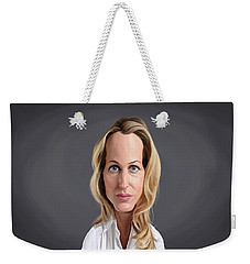 Celebrity Sunday - Gillian Anderson Weekender Tote Bag by Rob Snow