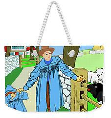 Baa, Baa, Black Sheep Nursery Rhyme Weekender Tote Bag by Marian Cates