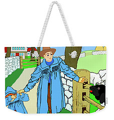 Baa, Baa, Black Sheep Nursery Rhyme Weekender Tote Bag