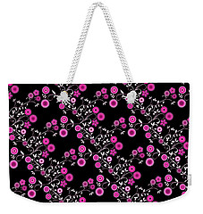 Weekender Tote Bag featuring the digital art Pink Floral Explosion by Methune Hively