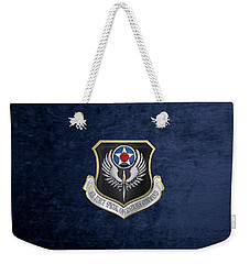 Air Force Special Operations Command -  A F S O C  Shield Over Blue Velvet Weekender Tote Bag by Serge Averbukh