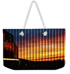 Up 6445 Sunset - The Slat Collection Weekender Tote Bag