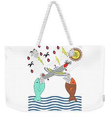 Fish Food Weekender Tote Bag by Methune Hively
