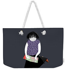 Her Picture Book Weekender Tote Bag by Asok Mukhopadhyay