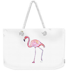 Pinky The Flamingo Weekender Tote Bag