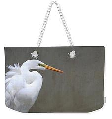 Portrait Of An Egret Rectangle Weekender Tote Bag
