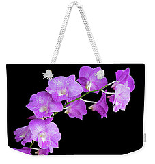 Vivid Purple Orchids Weekender Tote Bag