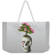 Weekender Tote Bag featuring the painting Bonsai Skull by Ivana Westin
