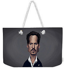 Celebrity Sunday - Johnny Depp Weekender Tote Bag