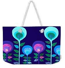Space Flowers Weekender Tote Bag