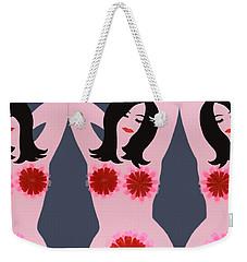 Flower Power - Pink Weekender Tote Bag