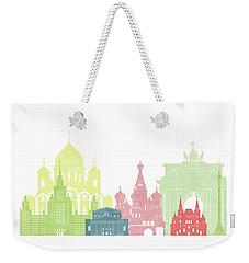 Moscow Russia Skyline Weekender Tote Bag
