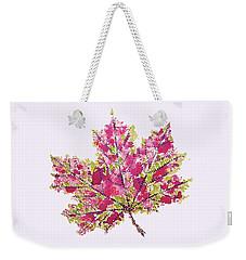Colorful Watercolor Autumn Leaf Weekender Tote Bag