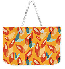 Orange Blue Yellow Abstract Autumn Leaves Pattern Weekender Tote Bag