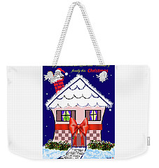 Christmas Card Weekender Tote Bag