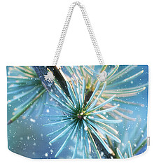 Blue Atlas Cedar Winter Holiday Card Weekender Tote Bag