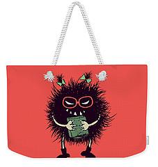 Geek Evil Bug Character Loves Reading Weekender Tote Bag