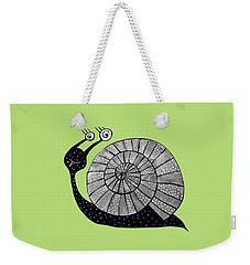Cartoon Snail With Spiral Eyes Weekender Tote Bag