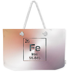 Periodic Table Of Elements - Iron Fe Weekender Tote Bag