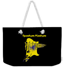 Weekender Tote Bag featuring the photograph Spankum Plankum by Guitar Wacky